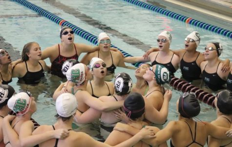 Girls swim and dive defeats Grand Rapids Catholic Central 103-74