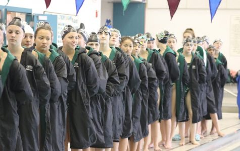 Girls swim and dive wins top three divisions of Mustang Invitational