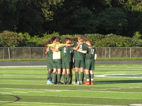 Strong offensive start pushes boys varsity soccer past East Grand Rapids 2-0