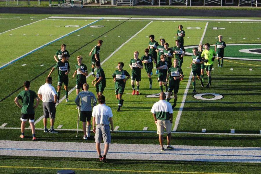 Boys varsity soccer defeats Lowell 2-1 on senior night