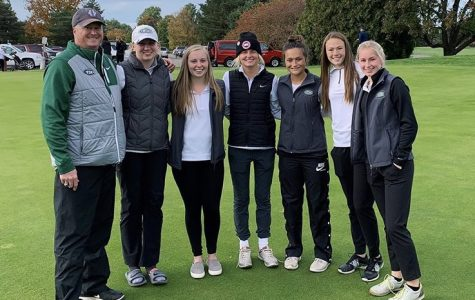 Girls varsity golf places third at historic State Tournament, best finish in school history