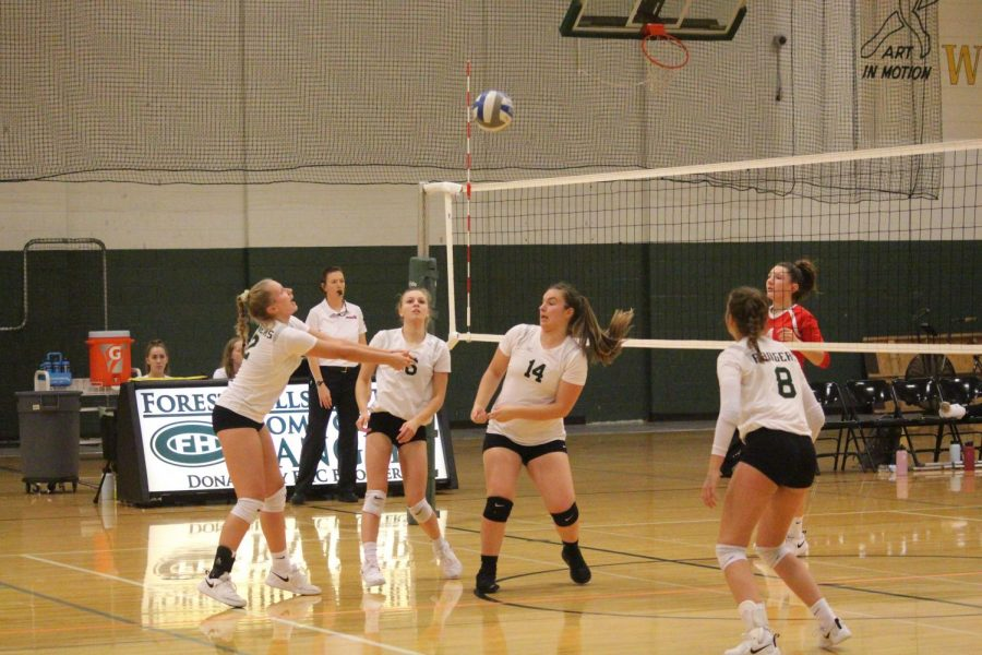 Freshman volleyball go 2-0 at the OK White Tri