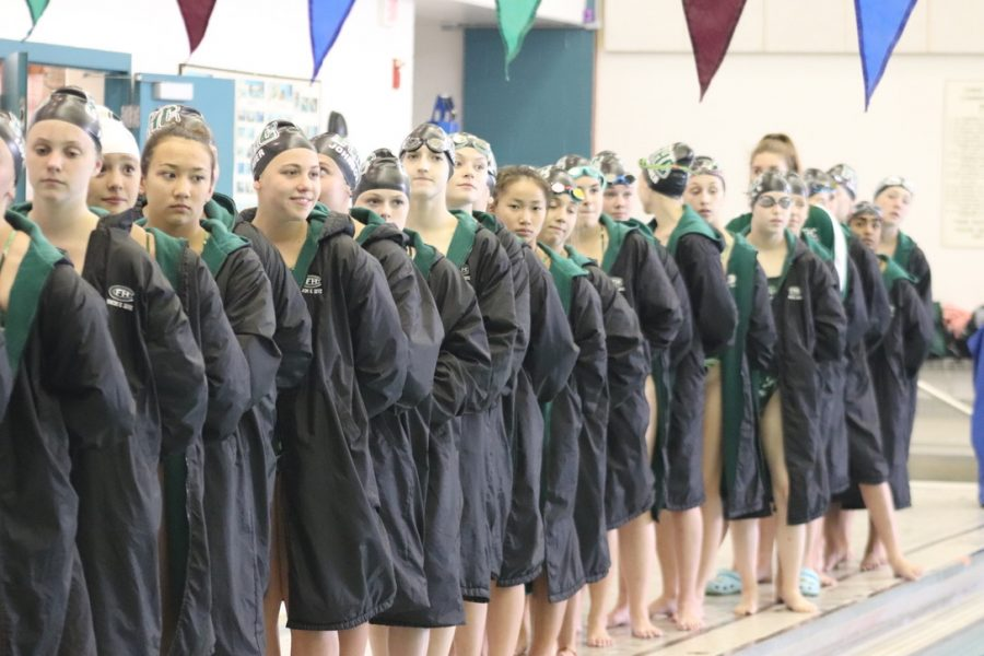 Girls swim and dive loses to East Grand Rapids 103-76
