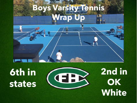 Boys varsity tennis finishes 2nd in conference behind FHN