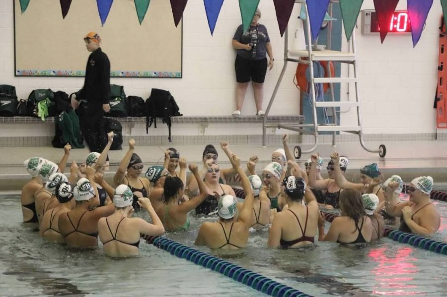 Girls swim and dive take second in conferences