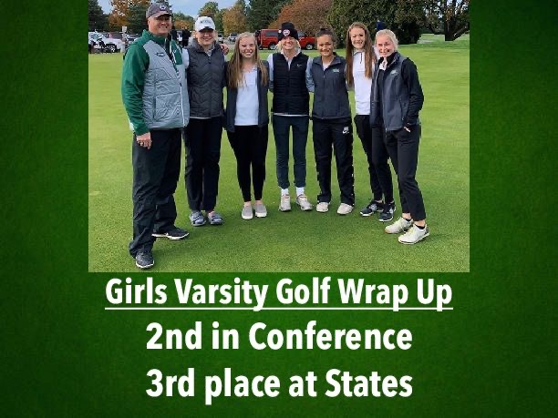 Girls varsity golf ends extraordinary season highlighted by third-place finish at States