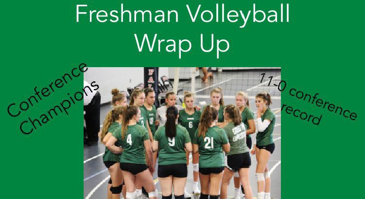 Freshman+volleyball+end+its+season+as+conference+champions+thanks+to+undefeated+conference+record