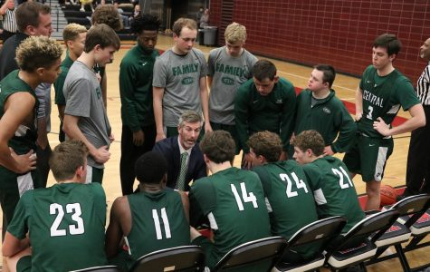 Boys varsity basketball drops season opener against FHE 55-53