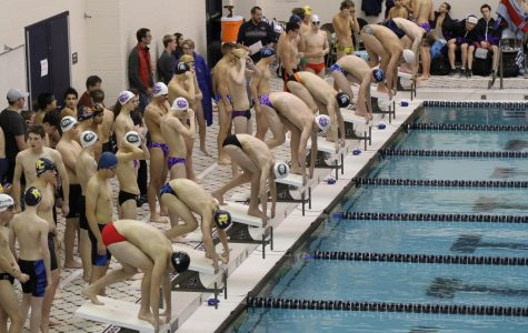 Boys swim and dive takes ninth in the West Michigan relay meet