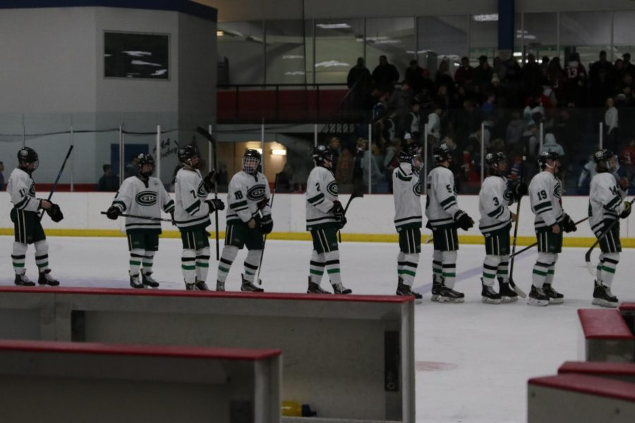 Hockey bounces back from slow start to the season, goes 1-1 against rival East Grand Rapids and Jenison