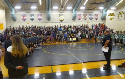 Ranger wrestling takes down Tri-County High School at assembly match