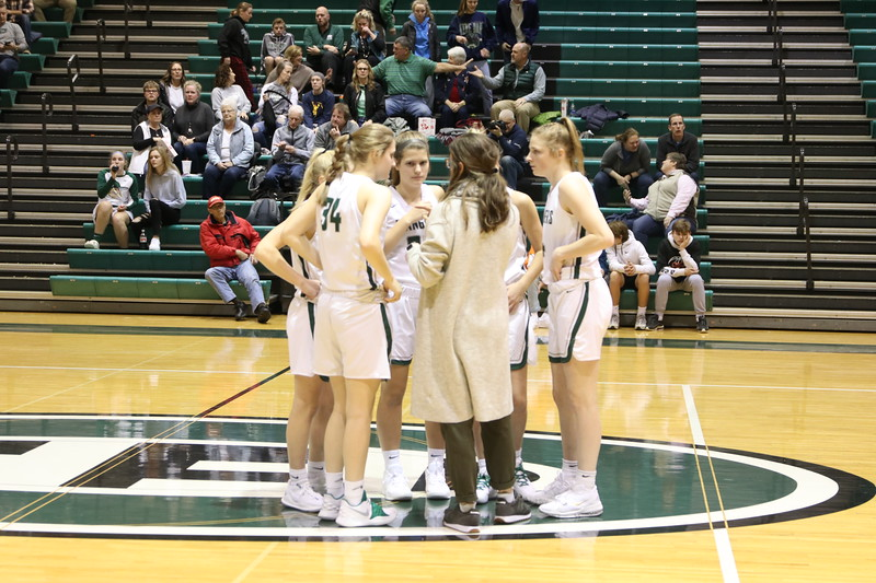 Girls varsity basketball avenges last year's district semifinal loss with 48-39 win over Cedar Springs