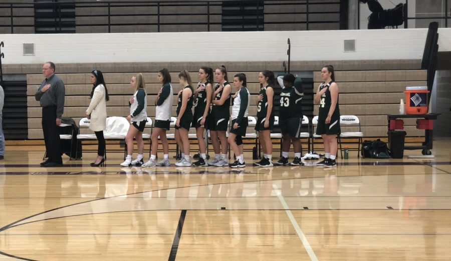Freshman girls basketball picks up a win in first conference game