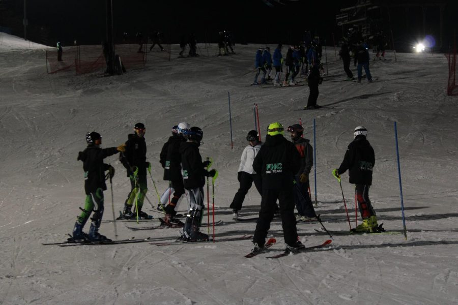 Varsity Ski team gains more experience in their third conference race