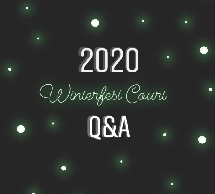 Q&As with Class of 2020s Winterfest Court
