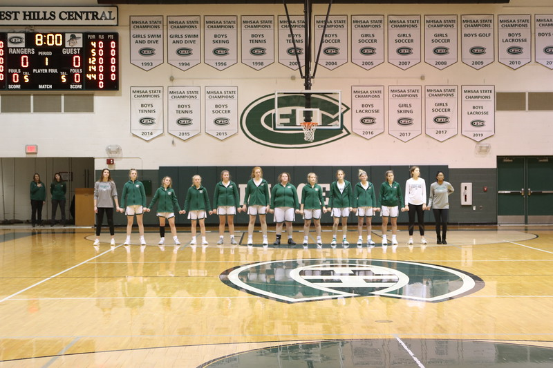 Girls varsity basketball wins thriller vs Cedar Springs 44-42