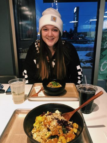 Bre Brown enjoying Poke Toki