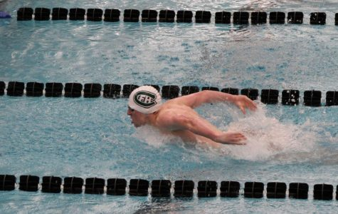 Junior Avery LeTourneau is pictured swimming for FHC's varsity boys swim team.