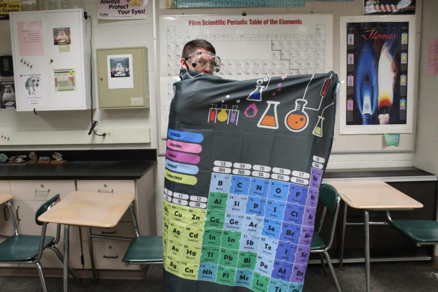 Russell Chudy is in his element as a chemistry teacher