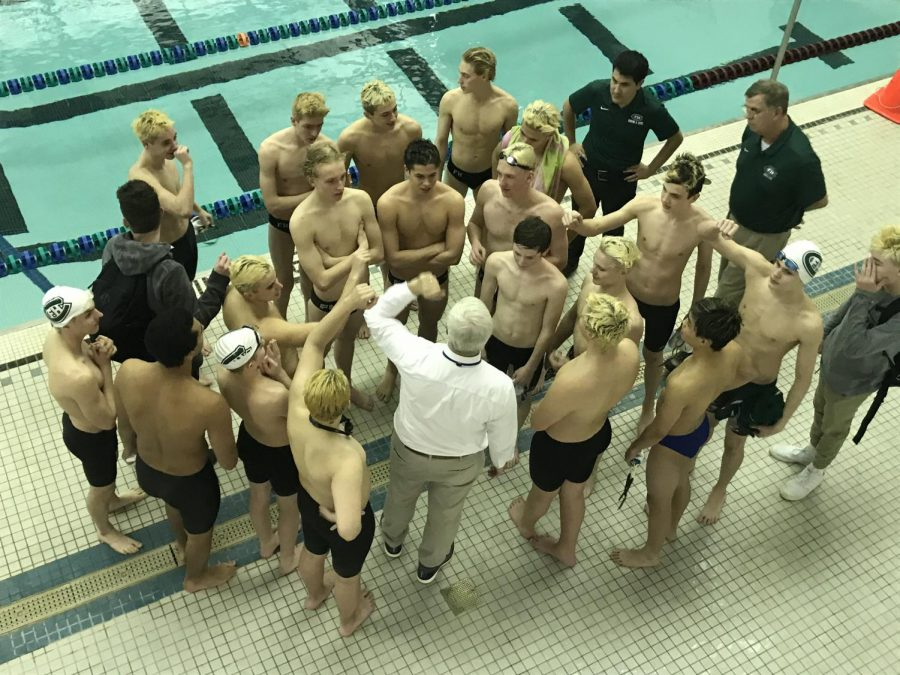 Boys swim and dive gets huge win against Jenison 95-91