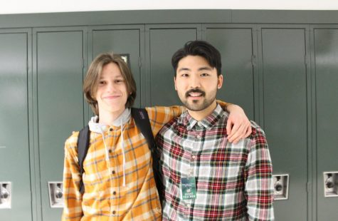 Junior Max Harris (left) and Mr. Cha (right)
