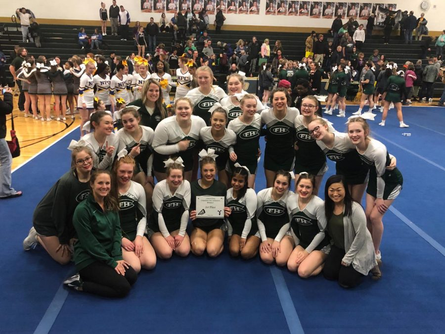Competitive Cheer Places First at Comstock Park Invite