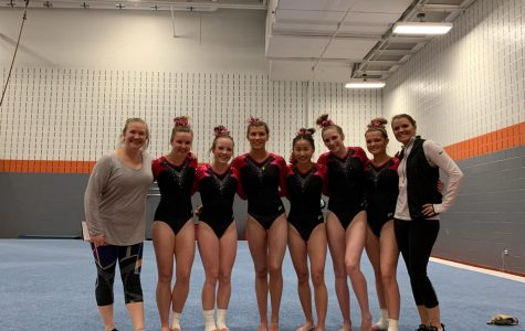 Forest Hills varsity gymnastics team loses to Lowell by one point