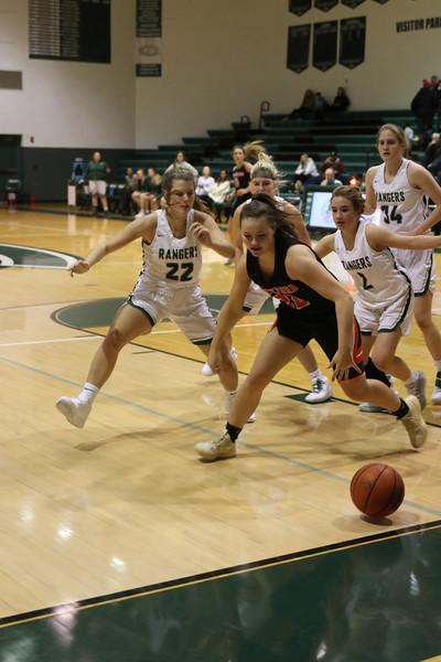 Girls varsity basketball defeats Northview 30-20 in a defensive slugfest