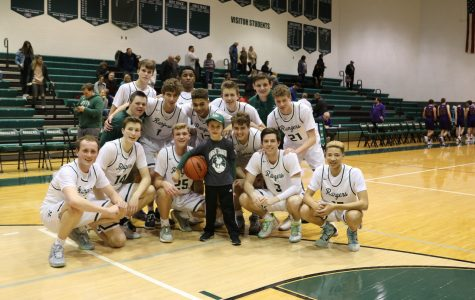 Boys varsity basketball earns season sweep over Greenville with 74-46 win