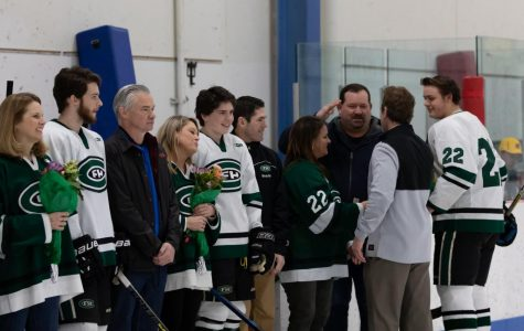 FHC offense dominates as hockey defeats Hudsonville 4-2 on Senior Night