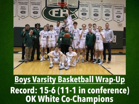 Boys varsity basketball moves to 8-0 in conference with 77-61 win over Cedar Springs