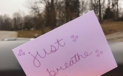 Leaving positive notes by neighborhood mailboxes is a small way to contribute happiness