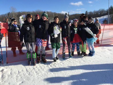 Varsity Ski team faces tough course conditions on senior night