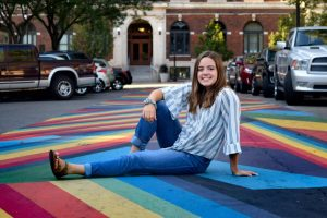 Megan Raisch uses the time away from school to sell beautiful embroidery to friends