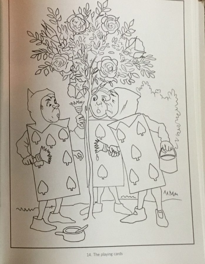 From the British Library Alice in Wonderland Coloring Book