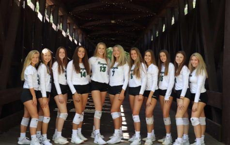 Varsity volleyball picks up first conference win over the Greenville Yellowjackets