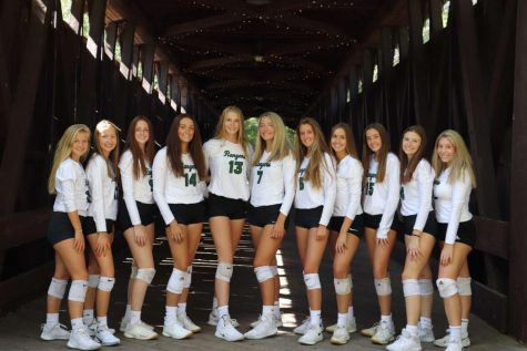 Varsity volleyball drops tough game to the defending state champion Grand Rapids Christian