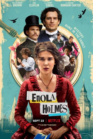 This is a movie poster of the show Enola Holmes.