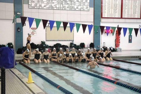Girls swim and dive team takes the win over FHNE in their friendly meet this past Saturday