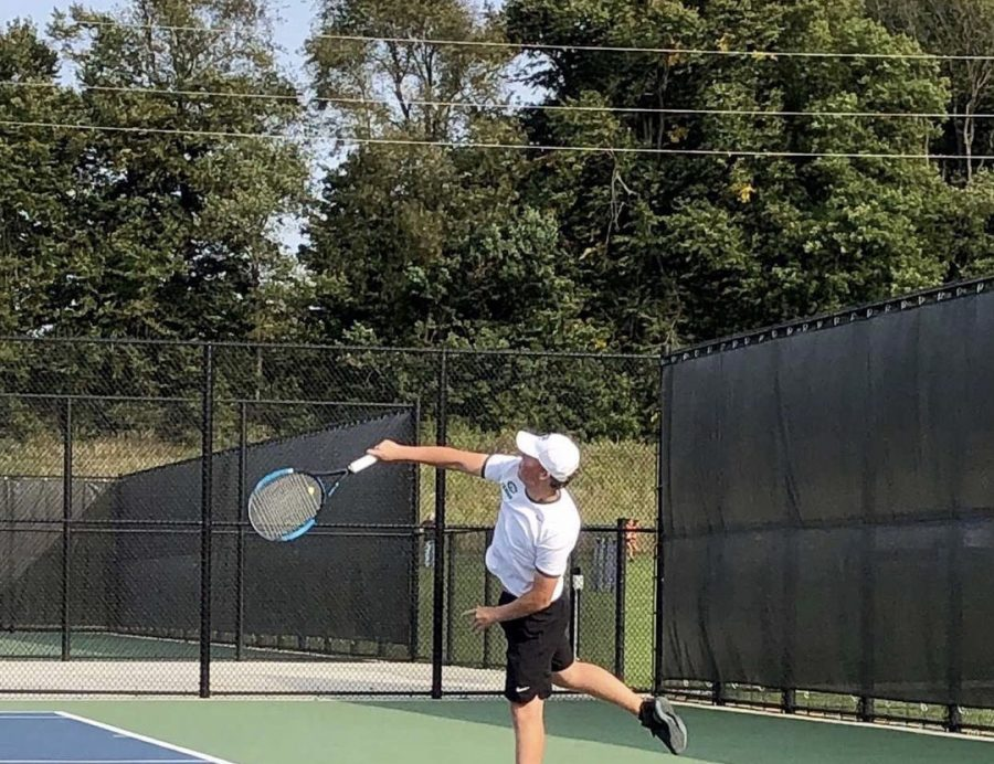 Luke Brown shares his love for tennis both in the form of playing and teaching the sport