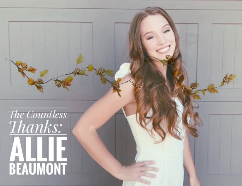 TCT's The Countless Thanks: Allie Beaumont