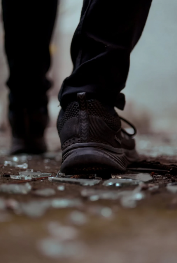 Shattered glass left behind by stomping shoes and a demanding timeline.