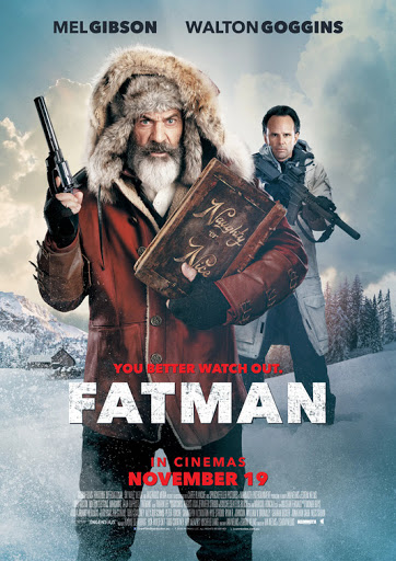 This is the cover of the Christmas movie Fatman which failed to impress me.