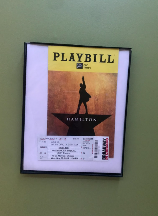 The playbill in my room is a reminder of my happiness
