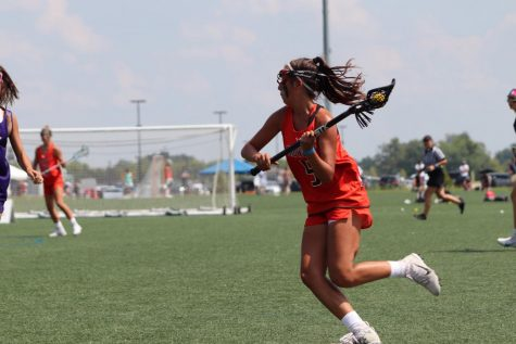 Sophomore Shannon Murphy playing one of her favorite sports, lacrosse.