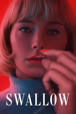 The official movie poster, which shows the protagonist, Hunter, holding a pin between her fingers.