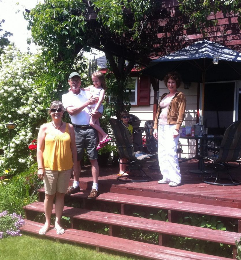 My family and I with her in the garden circa 2011.