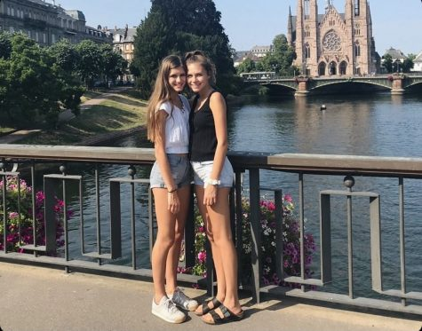 Madi (right) and her sister, Chloe (left) in France.