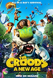 The movie poster for the Croods movie sequel