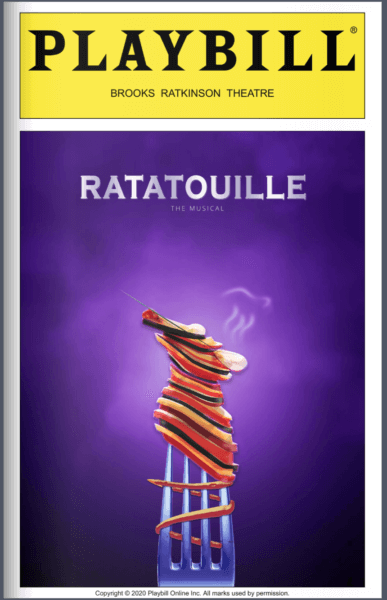 Image of the playbill created by Jess Siswick for Ratatouille: The Tiktok Musical